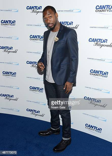 Comedian Jay Pharoah attends the annual Charity Day hosted by Cantor Fitzgerald and BGC at Cantor Fitzgerald on September 11 2015 in New York City