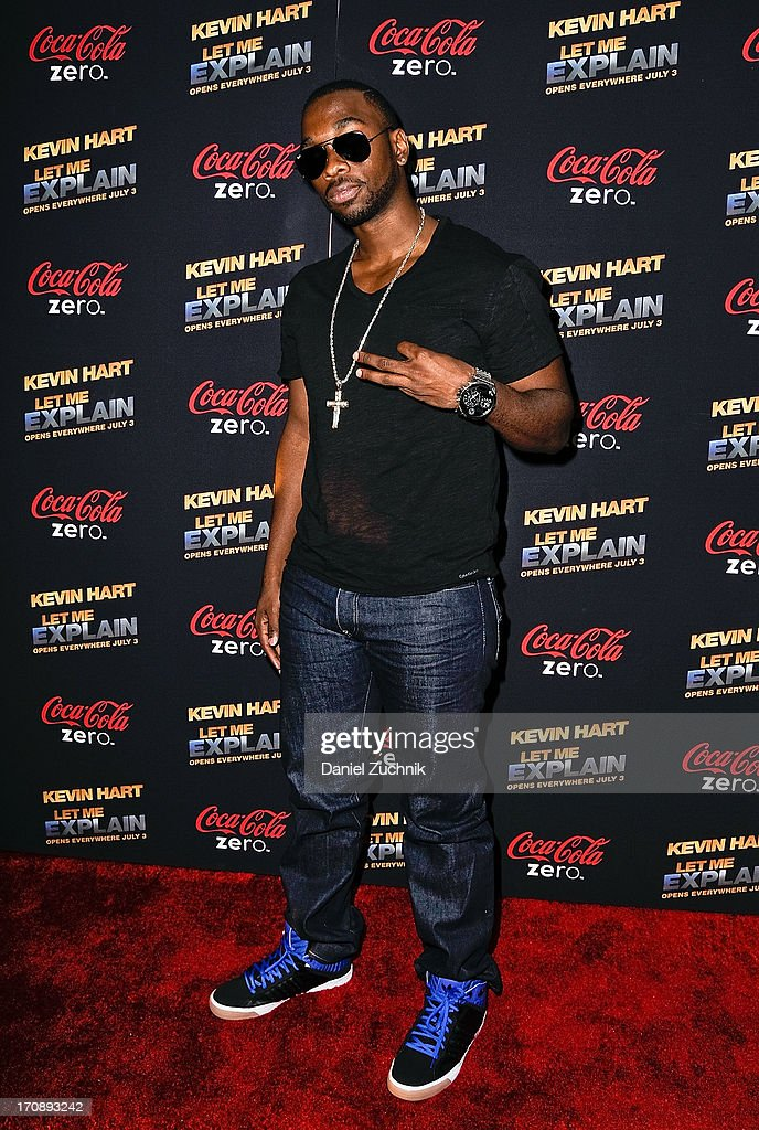 Comedian <a gi-track='captionPersonalityLinkClicked' href=/galleries/search?phrase=Jay+Pharoah&family=editorial&specificpeople=7252581 ng-click='$event.stopPropagation()'>Jay Pharoah</a> attends the 'Kevin Hart:Let Me Explain' New York Premiere at Regal Cinemas Union Square on June 19, 2013 in New York City.