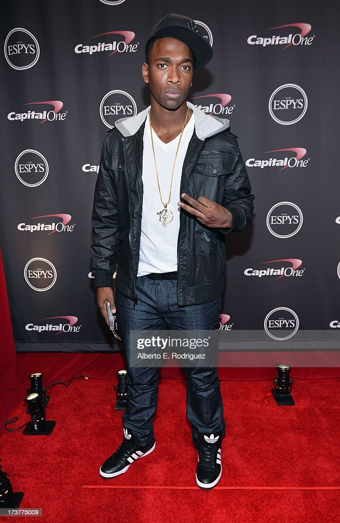 Comedian <a gi-track='captionPersonalityLinkClicked' href=/galleries/search?phrase=Jay+Pharoah&family=editorial&specificpeople=7252581 ng-click='$event.stopPropagation()'>Jay Pharoah</a> poses backstage at The 2013 ESPY Awards at Nokia Theatre L.A. Live on July 17, 2013 in Los Angeles, California.