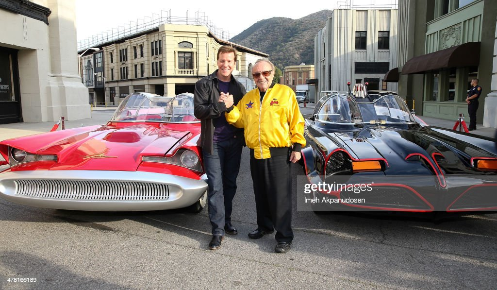 Comedian Jeff Dunham (L) and designer George Barris attend the Warner Bros. VIP Tour 'Meet The Family' Speaker Series at Warner Bros. Tour Center on March 11, 2014 in Burbank, California.