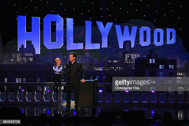 Comedian Jeff Dunham and 'Walter' perform onstage during Jeff Dunham Unhinged In Hollywood Featuring Special Guest Brad Paisley on August 19 2015 in...