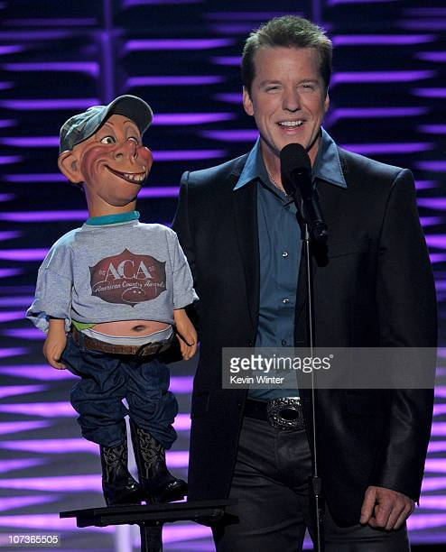 Comedian Jeff Dunham performs onstage during the American Country Awards 2010 held at the MGM Grand Garden Arena on December 6 2010 in Las Vegas...
