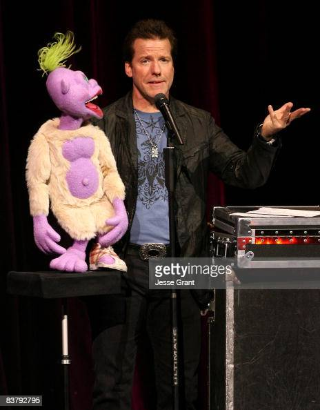 Comedian Jeff Dunham performs with...