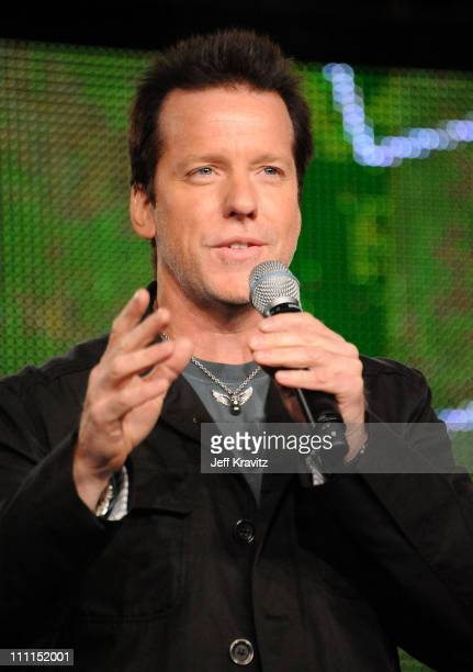 Comedian Jeff Dunham speaks during the MTV Networks portion of the 2009 Summer Television Critics Association Press Tour at the Langham Hotel on July...