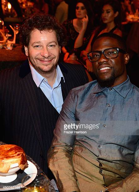 Comedian Jeff Ross and actor Kevin Hart attend Spike TV's 'Guys Choice 2014' at Sony Pictures Studios on June 7 2014 in Culver City California