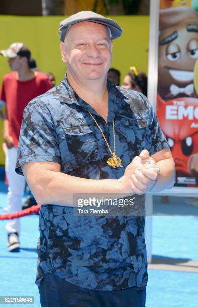 Comedian Jeff Ross attends the premiere of Columbia Pictures and Sony Pictures Animation's 'The Emoji Movie' at Regency Village Theatre on July 23...