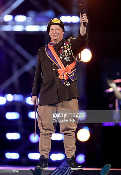 Comedian Jeff Ross performs onstage during 'Spike's Rock the Troops' event held at Joint Base Pearl Harbor Hickam on October 22 2016 in Honolulu...