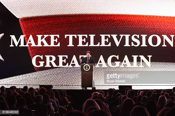 Comedian Jeff Ross speaks onstage during the Comedy Central Live 2016 upfront at Town Hall on March 31 2016 in New York City