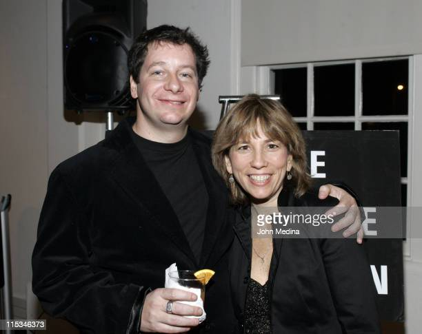 Comedian Jeffrey Ross with Creative Coalition Executive Director Robin Bronk