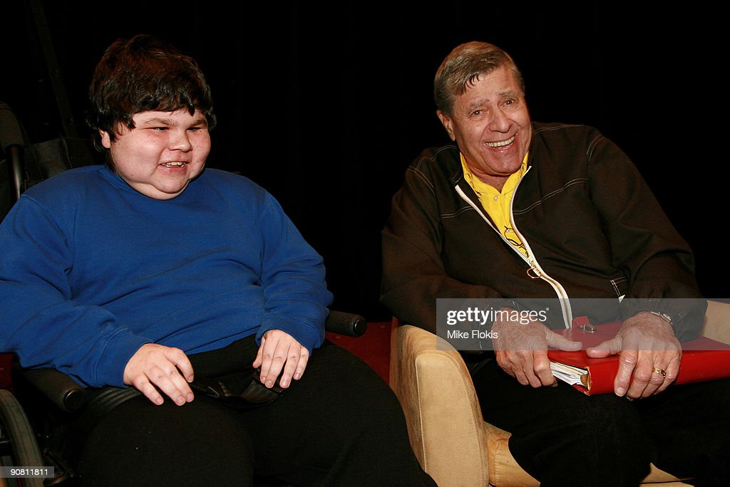 Comedian Jerry Lewis meets 15 year old Corey Cotterill at a Muscular Dystrophy Family Day held at Star City on September 16, 2009 in Sydney, Australia. Lewis is in Australia to support the Muscular Dystrophy Foundation Australia (MDFA) in their fund raising and awareness efforts for the muscle wasting disease, including the 'Laugh For Life' event on Monday evening.