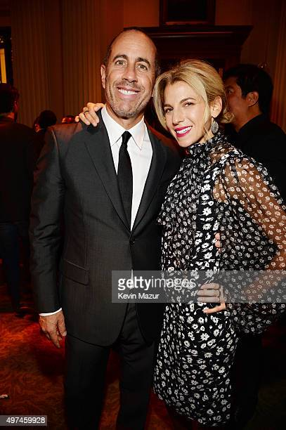 Comedian Jerry Seinfeld and Baby Buggy Founder Jessica Seinfeld attend as Baby Buggy celebrates 15 years with 'An Evening with Jerry Seinfeld and Amy...