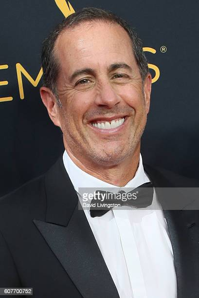 Comedian Jerry Seinfeld arrives at the 68th Annual Primetime Emmy Awards at the Microsoft Theater on September 18 2016 in Los Angeles California