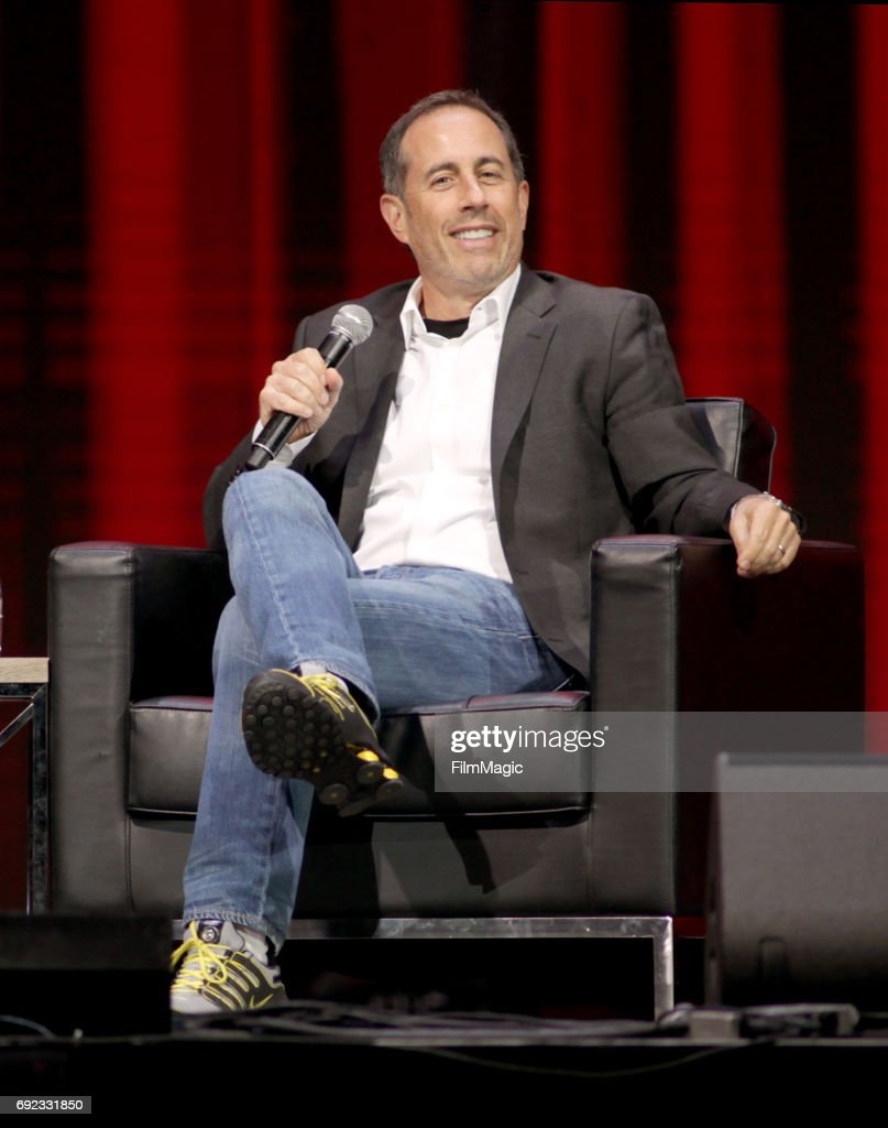 Comedian Jerry Seinfeld speaks onstage at The Bill Graham Stage during Colossal Clusterfest at Civic Center Plaza and The Bill Graham Civic Auditorium on June 4, 2017 in San Francisco, California.