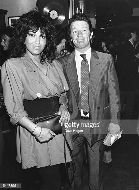 Comedian Jim Davidson and his wife Tracey Hilton at the opening of Bill Wyman's burger bar 'Sticky Fingers' in London May 11th 1989