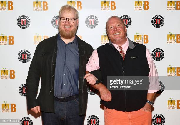 Comedian Jim Gaffigan and chef Mario Batali attend 6th Annual Mario Batali Foundation Honors dinner at Del Posto on October 15 2017 in New York City