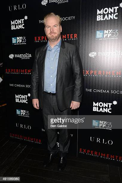 Comedian Jim Gaffigan attends the party for the 53rd New York Film Festival's premiere of Magnolia Pictures' 'Experimenter' hosted by Montblanc and...