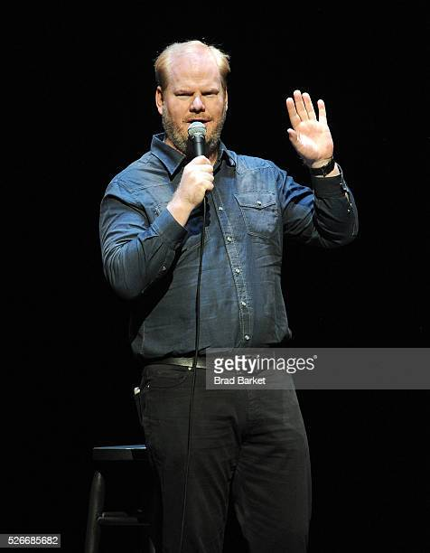 Comedian Jim Gaffigan performs on stage at An Amazing Night Of Comedy A David Lynch Foundation Benefit For Veterans With PTSD at New York City Center...