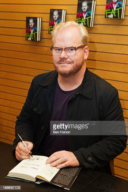 Comedian Jim Gaffigan signs copies of his book 'Dad is Fat' at Barnes Noble 3rd Street Promenade on May 13 2013 in Santa Monica California