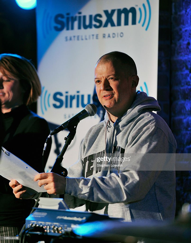 Comedian <a gi-track='captionPersonalityLinkClicked' href=/galleries/search?phrase=Jim+Norton+-+Comedian&family=editorial&specificpeople=4595439 ng-click='$event.stopPropagation()'>Jim Norton</a> attends comedian Tom Papa's special Christmas edition of SirusXM's 'Come To Papa' his 'Raw Dog' comedy show on SiriusXM at Village Underground on December 18, 2012 in New York City.
