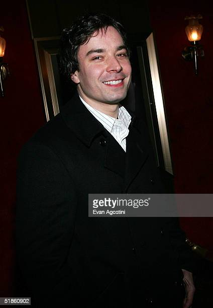 Comedian Jimmy Fallon attends 'The Aviator' film premiere on December 14 2004 at the Zeigfeld Theatre in New York City
