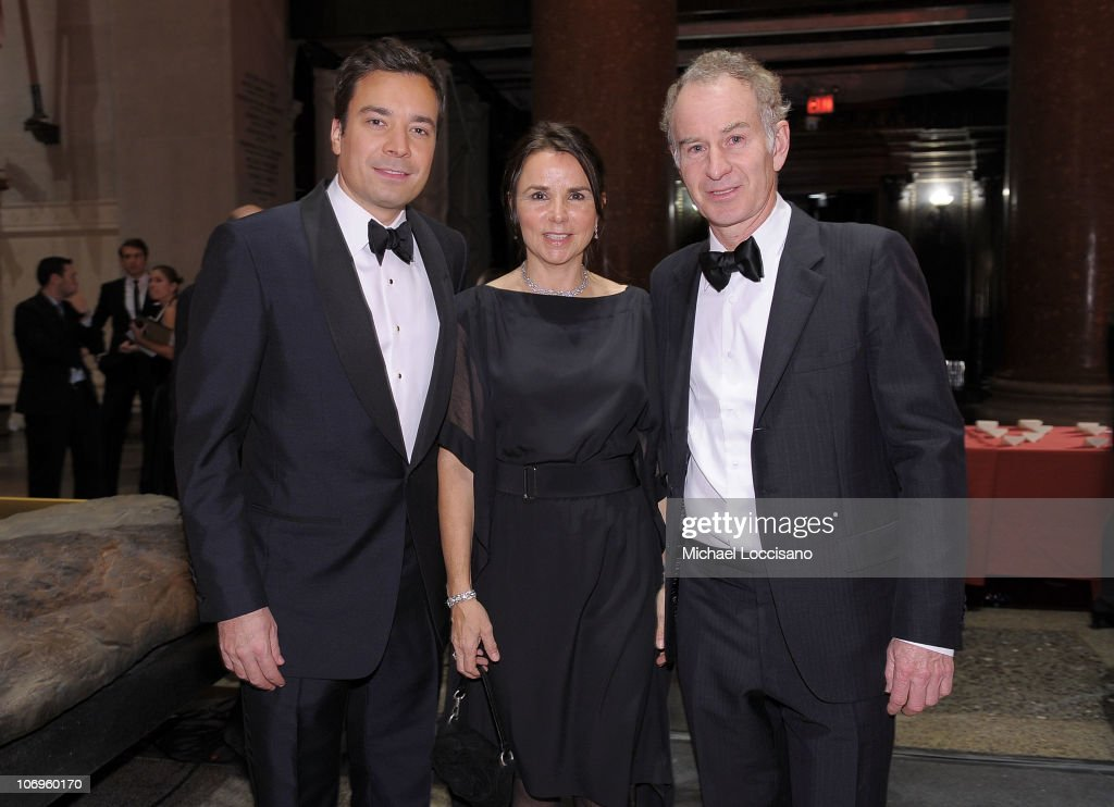 Comedian Jimmy Fallon, musician Patty Smyth and her husband and former professional tennis player John McEnroe attend the American Museum of Natural History's 2010 Museum Gala at the American Museum of Natural History on November 18, 2010 in New York City.