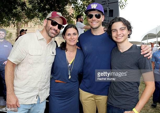 Comedian Jimmy Kimmel Alex's Lemonade Stand Foundation CoExecutive Director Liz Scott actors Joel McHale and Max Burkholder attend LA Loves Alex's...