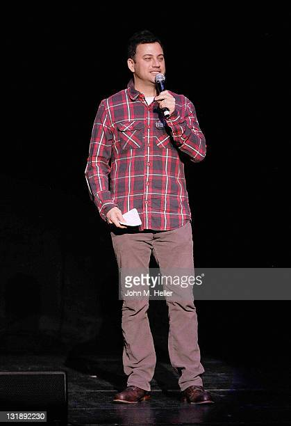 Comedian Jimmy Kimmel helps Adam Carolla celebrate the release of his new paperback book 'In Fifty Years We'll All Be Chicks' on May 21 2011 in Los...