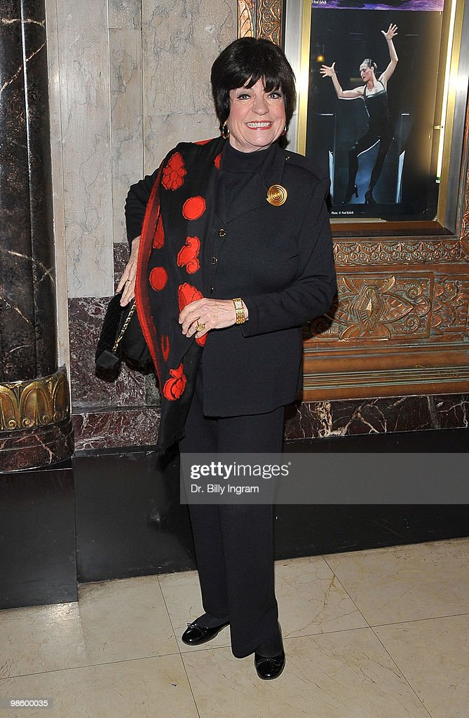 Comedian Jo Anne Worley attends the opening night of the play 'Chicago' at the Pantages Theatre on April 21 2010 in Hollywood California