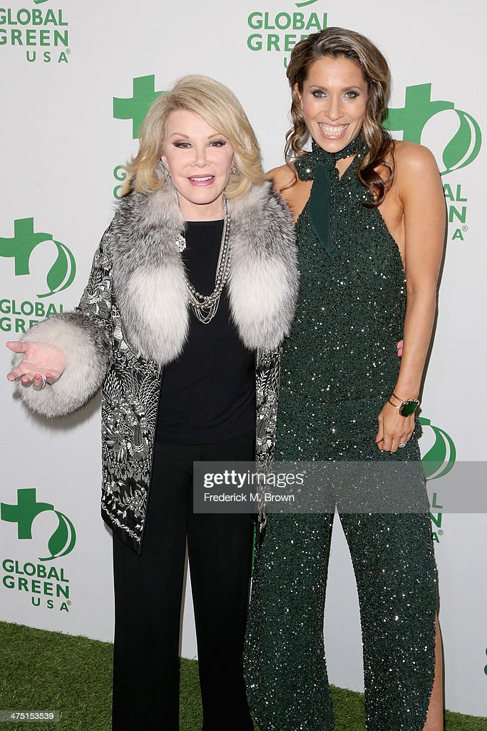 Comedian Joan Rivers (L) and Rainbeau Mars attend Global Green USA's 11th Annual Pre-Oscar party at Avalon on February 26, 2014 in Hollywood, California.