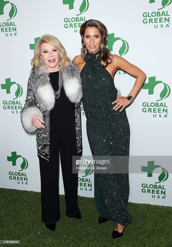 Comedian <a gi-track='captionPersonalityLinkClicked' href=/galleries/search?phrase=Joan+Rivers&family=editorial&specificpeople=159403 ng-click='$event.stopPropagation()'>Joan Rivers</a> (L) and Rainbeau Mars attend Global Green USA's 11th Annual Pre-Oscar party at Avalon on February 26, 2014 in Hollywood, California.