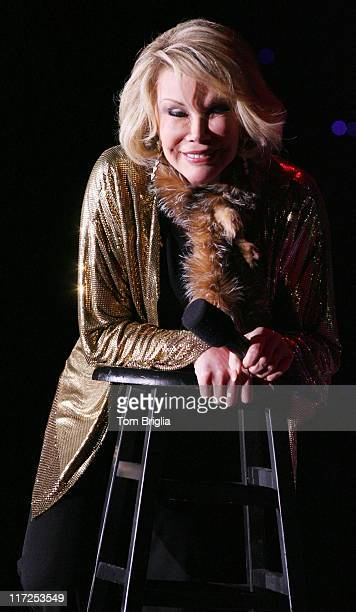 Comedian Joan Rivers appearing in the Superstar Theater at Resorts Atlantic City on Friday October 20 2006