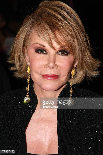 Comedian Joan Rivers arrives at The Opening Night of Mel Brooks New Musical 'Young Frankenstein' on Broadway on November 8 2007 at The Hilton Theater...