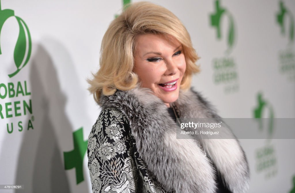 Comedian <a gi-track='captionPersonalityLinkClicked' href=/galleries/search?phrase=Joan+Rivers&family=editorial&specificpeople=159403 ng-click='$event.stopPropagation()'>Joan Rivers</a> attends Global Green USA's 11th Annual Pre-Oscar party at Avalon on February 26, 2014 in Hollywood, California.
