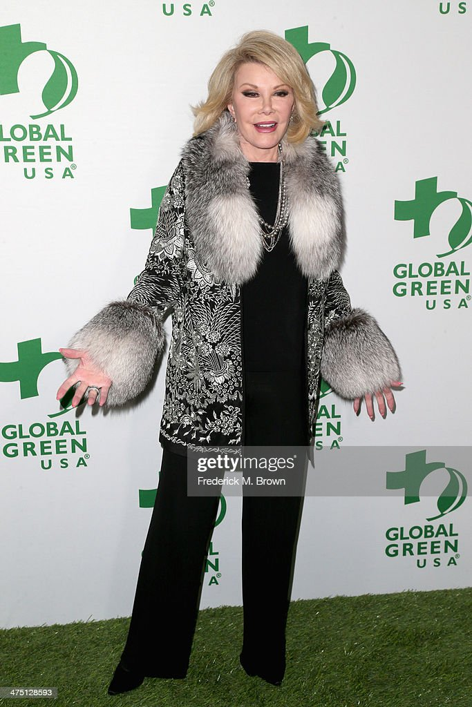 Comedian Joan Rivers attends Global Green USA's 11th Annual Pre-Oscar party at Avalon on February 26, 2014 in Hollywood, California.