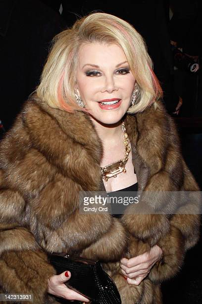Comedian Joan Rivers attends the Gore Vidal's 'The Best Man' Broadway Opening night at the Gerald Schoenfeld Theatre on April 1 2012 in New York New...