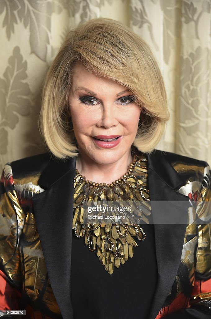 Comedian <a gi-track='captionPersonalityLinkClicked' href=/galleries/search?phrase=Joan+Rivers&family=editorial&specificpeople=159403 ng-click='$event.stopPropagation()'>Joan Rivers</a> is photographed at the Plaza Atheneeon August 15, 2014 in New York City where she officiated the gay wedding of Joseph Aiello and William 'Jed' Ryan.