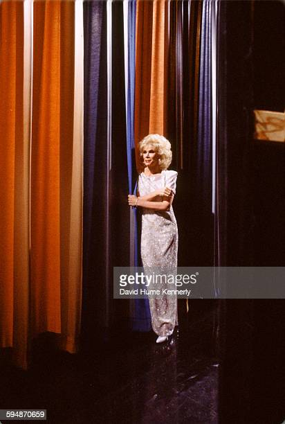 Comedian Joan Rivers waits in the wings during a taping of 'The Tonight Show Starring Johnny Carson' circa 1985 in Burbank California