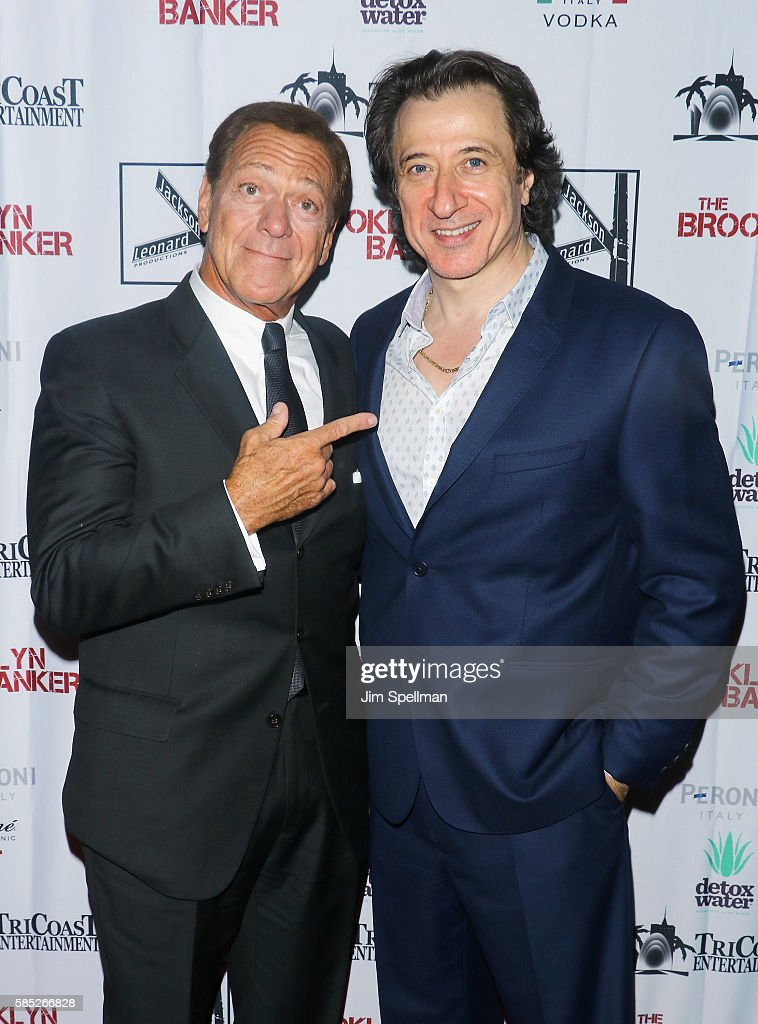 Comedian Joe Piscopo (L) and actor/director Federico Castelluccio attend the 'The Brooklyn Banker' New York premiere at SVA Theatre on August 2, 2016 in New York City.