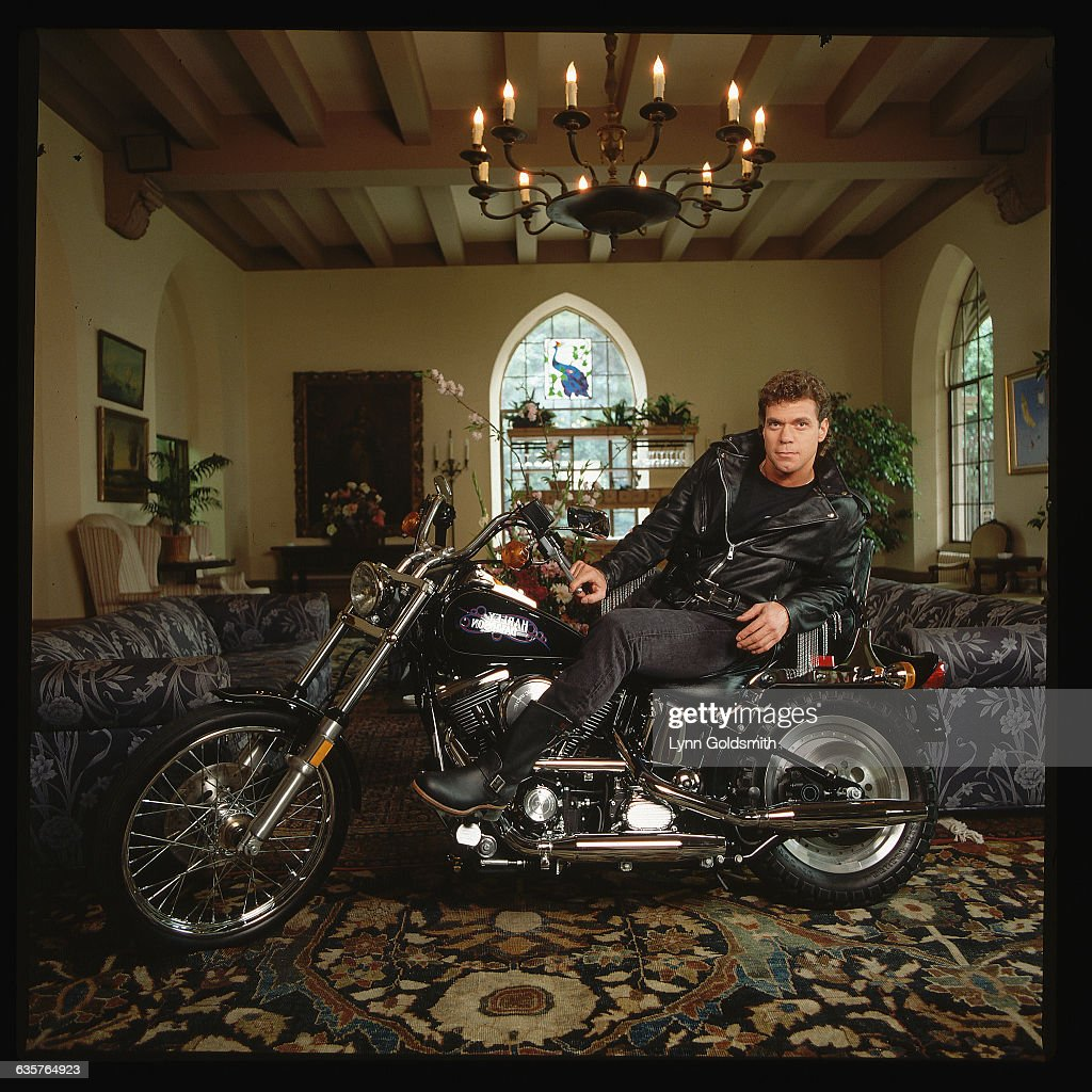joe piscopo on harley davidson motorcycle pictures | getty images