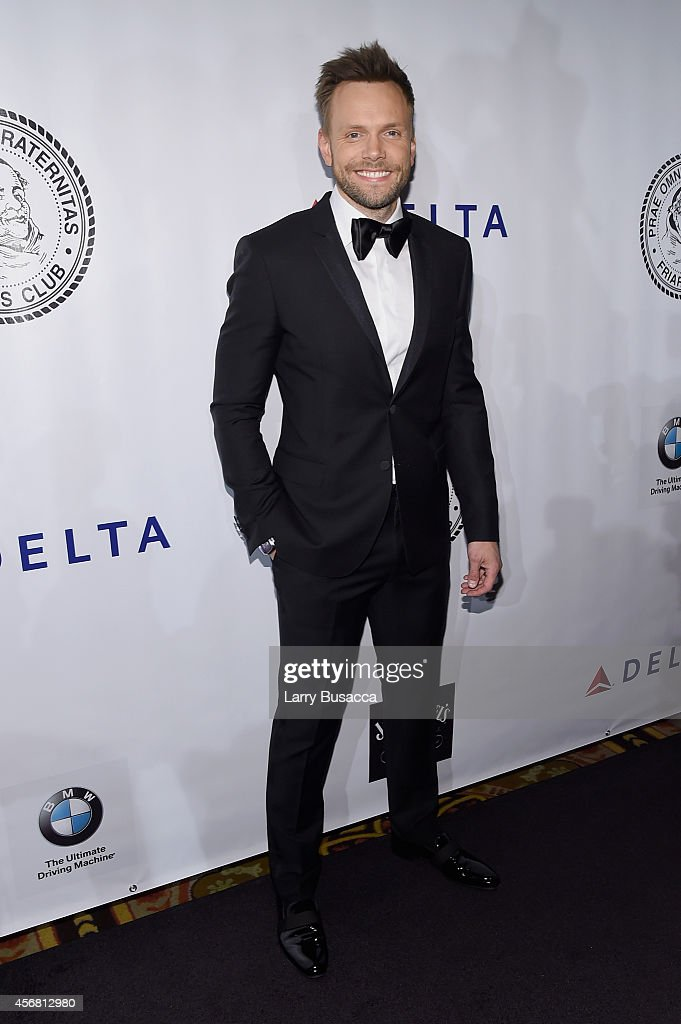 Comedian Joel McHale attends the Friars Foundation Gala honoring Robert De Niro and Carlos Slim at The Waldorf=Astoria on October 7 2014 in New York...