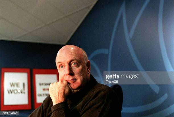 Comedian John Clarke on the set of his new series to be shown on the ABC 3 August 1998 THE AGE Picture by MICHAEL CLAYTONJONES