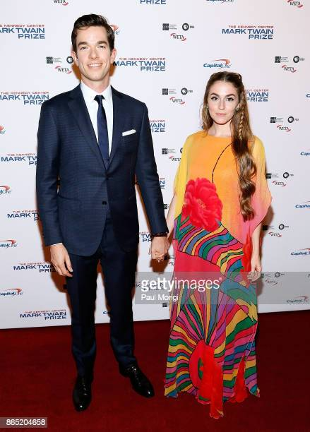 Comedian John Mulaney and his wife Anna Marie Tendler arrive to the 2017 Mark Twain Prize for American Humor at The Kennedy Center on October 22 2017...