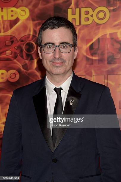 Comedian John Oliver attends HBO's Official 2015 Emmy After Party at The Plaza at the Pacific Design Center on September 20 2015 in Los Angeles...