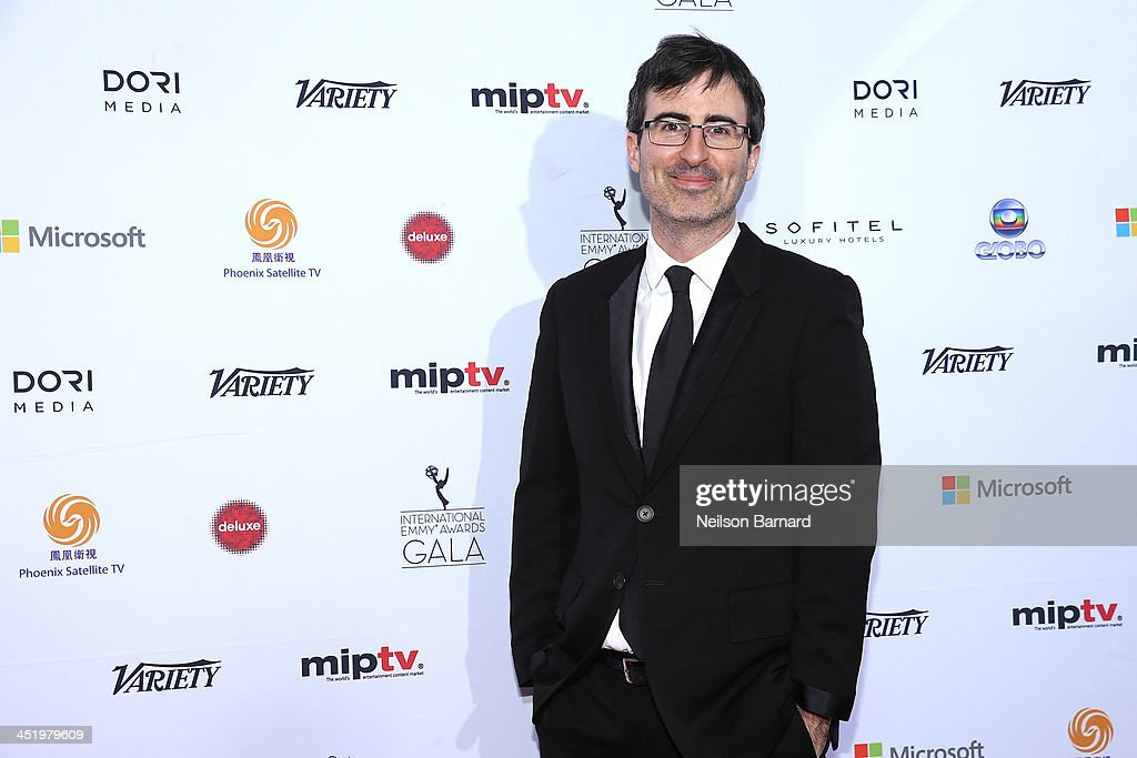 Comedian John Oliver attends the 41st International Emmy Awards at the Hilton New York on November 25, 2013 in New York City.
