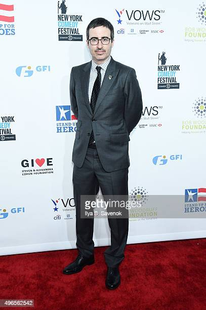 Comedian John Oliver attends the New York Comedy Festival and the Bob Woodruff Foundation's 9th Annual Stand Up For Heroes Event on November 10 2015...