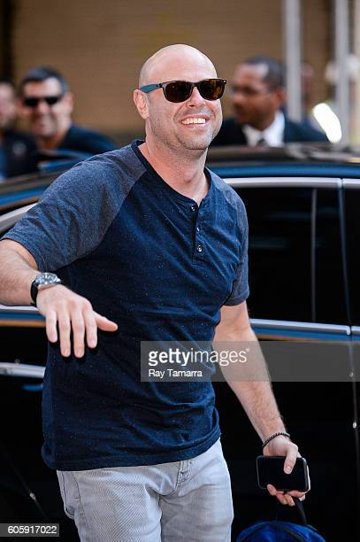 Comedian Jon Fisch enters 'The Late Show With Stephen Colbert' taping at the Ed Sullivan Theater on September 15 2016 in New York City