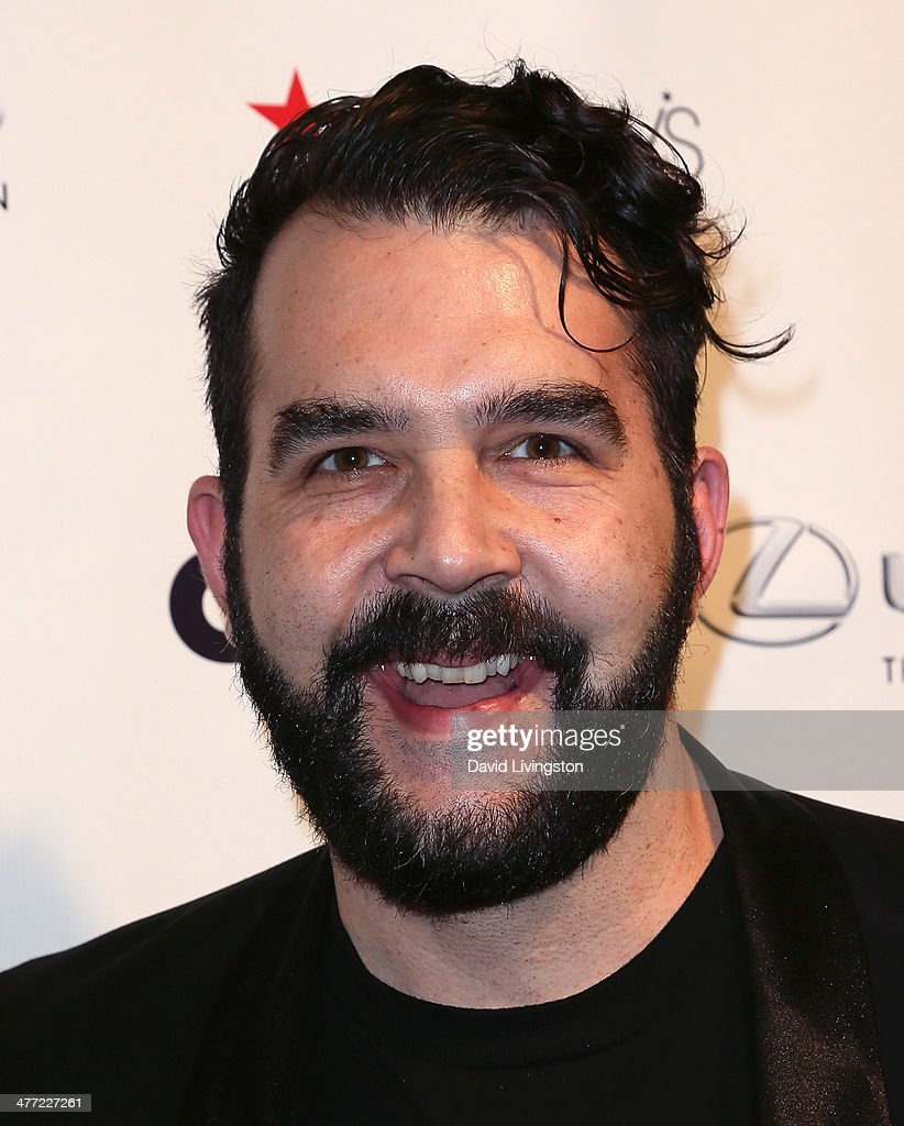 Comedian <a gi-track='captionPersonalityLinkClicked' href=/galleries/search?phrase=Jonny+McGovern+-+Comedian&family=editorial&specificpeople=13429421 ng-click='$event.stopPropagation()'>Jonny McGovern</a> attends Out Magazine's Rock OUT event to kick off Los Angeles Fashion Week at Siren Studios on March 7, 2014 in Hollywood, California.