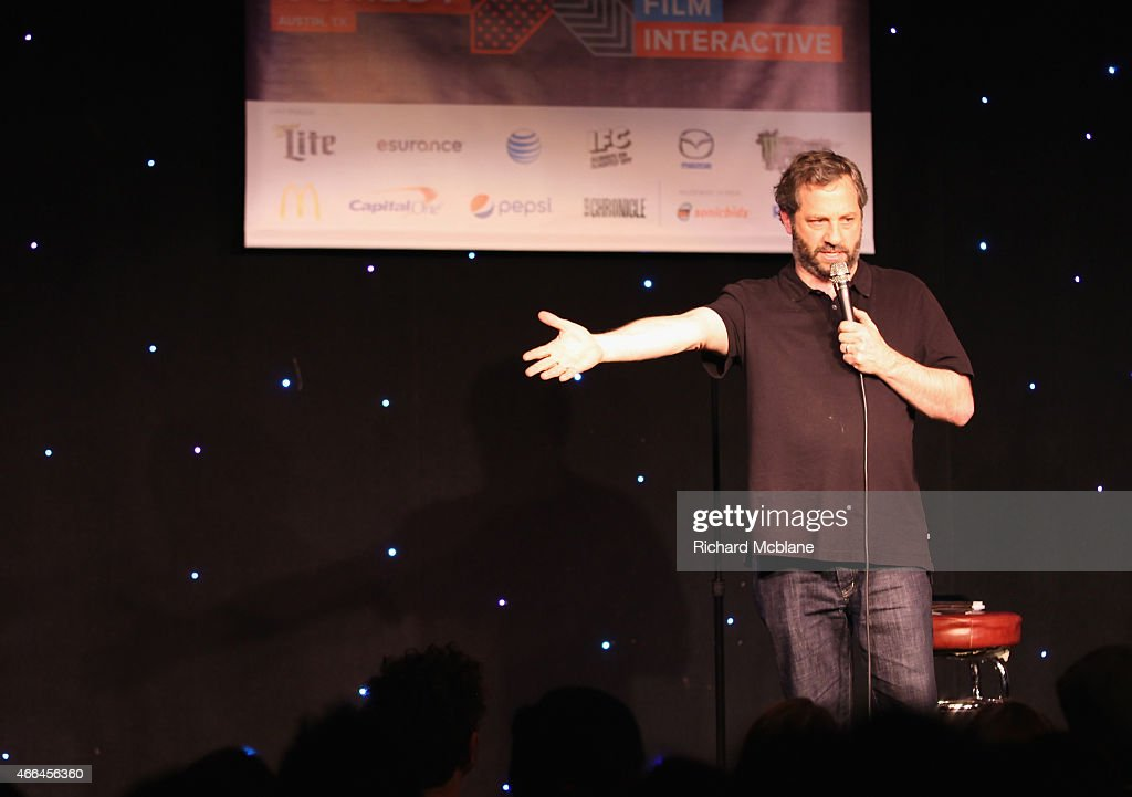 Comedian Judd Apatow performs at 'An Above Average Evening With The Upright Citizens Brigade Theatre' during the 2015 SXSW Music Film Interactive...
