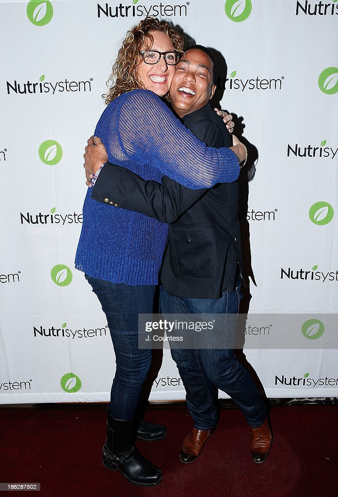 Comedian <a gi-track='captionPersonalityLinkClicked' href=/galleries/search?phrase=Judy+Gold&family=editorial&specificpeople=217558 ng-click='$event.stopPropagation()'>Judy Gold</a> and journalist Don Lemon attend the 'Melissa Explains It All: Tales from My Abnormally Normal Life' book launch party at Monkey Bar on October 29, 2013 in New York City.
