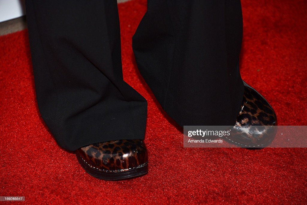 Comedian <a gi-track='captionPersonalityLinkClicked' href=/galleries/search?phrase=Judy+Tenuta&family=editorial&specificpeople=585737 ng-click='$event.stopPropagation()'>Judy Tenuta</a> (shoe detail) arrives at the Hooray For Hollywood...High Gala at the El Capitan Theatre on January 10, 2013 in Hollywood, California.